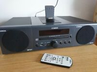 Yamaha MCR140 Hi-Fi with 2 x 15W Speakers (inc. CD, Wireless iPod docking, USB and DAB) - Like New!