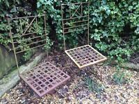 2x Wrought iron garden chairs