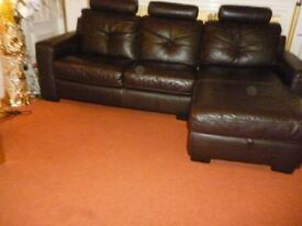 Leather sofa with storage was £2600 now only £450