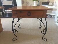 Real wood occasional side table