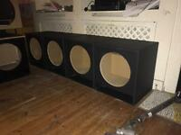 "15"" Ported mid/bass professional pa speaker boxes"