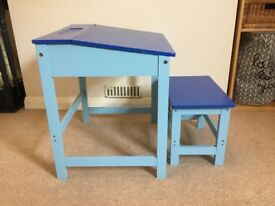 Childs Composite Wood School Desk And Stool