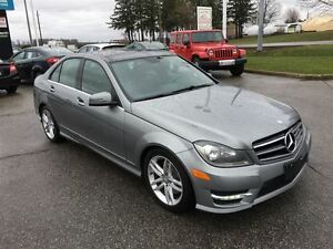 2014 Mercedes-Benz C-Class C300 / AWD / NAVI / LEATHER / MOONROO