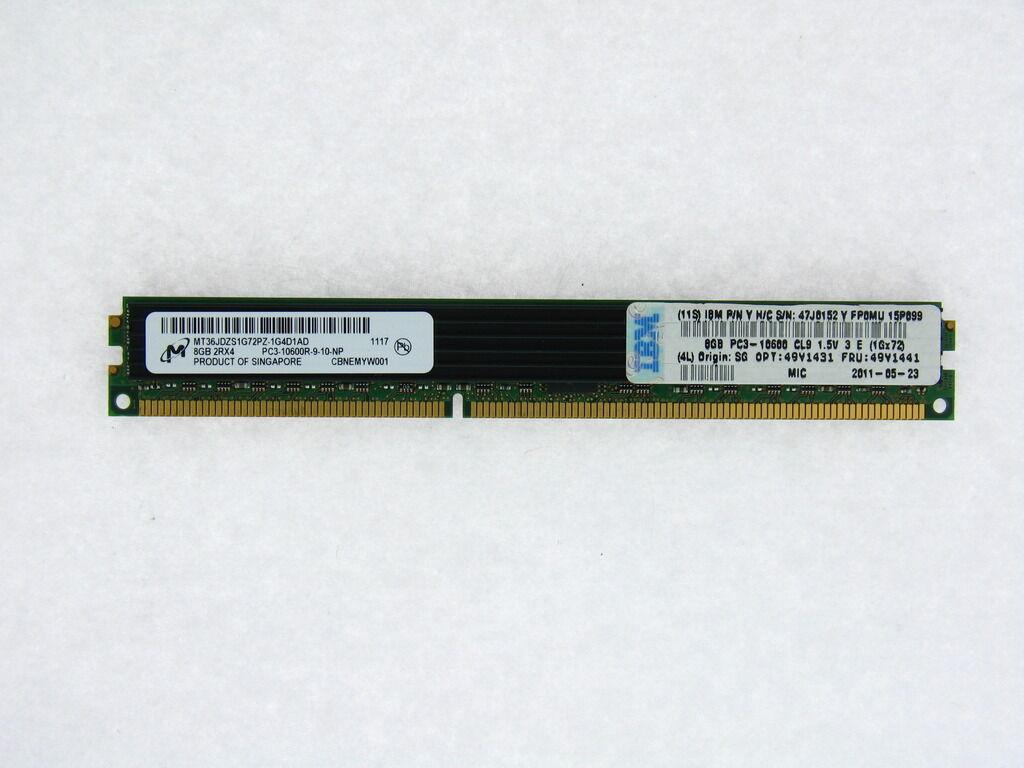 46C0599 IBM 16GB 2RX4 PC3L-10600R VLP MEMORY MODULE 1X16GB
