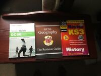 GCSE and KS3 geography and history books