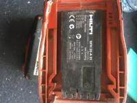 Hilti drill with hammer setting and battery