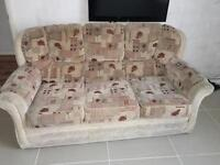 Sofa set (collection only) one single and one three seater