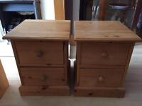Pair of Solid Pine Bedside Tables