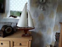 Vintage sailing boat lamp