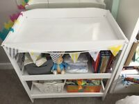White baby changing table / unit