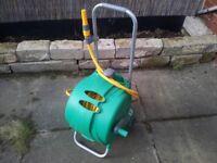 """Hozelock"" wheeled fast-cart garden hose. 30 metres."