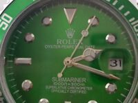 Rolex submariner green dial Case size 42mm