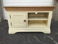 Country Cottage Natural Oak and painted TV cabinet