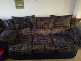 3 Seater Sofa Suite with 2 Arm Chairs