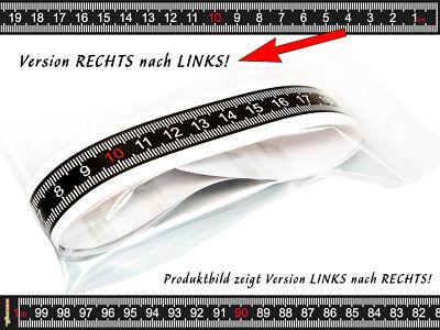 Maßband selbstklebend für Arbeitstisch, Bandmaß, Metermaß 100 cm RECHTS -> LINKS (Maßband Ende)