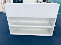 White 2 way bookcase/display unit - 2 of 4 - Good Condition