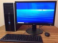 GAMING PC HP / i5 3.30Ghz / 8GB Ram / 1TB HDD / GeForce GTX 550 TI + 24 LG Monitor Win 10 Desktop