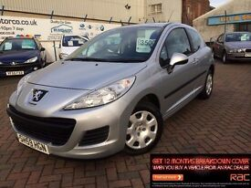 2009 59 PEUGEOT 207 1.4 S**LOW MILES**OCT MOT**2 KEYS**4 STAMPS**REDUCED!