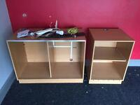 Shop fitting / counter / cabinets / 2 units / storage