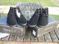 NEW 2 Pairs Atticus Black Boots/ Style Nick