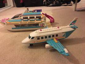 Lego Heartlake Plane and Dolphin Cruiser!