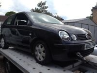 2005 VW POLO 1.4 TDI 3DR - BREAKING FOR PARTS WHEEL NUT AUCTION