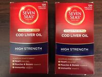 2 boxes of Seven Seas Cod Liver Oil 120 One-A-Day-Capsules - High Strength - £10