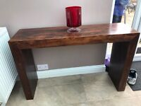 Modern style real wood console and side table