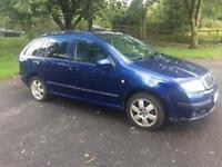 2007 Skoda fabia facelift estate 1.2 5 door blue