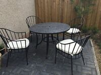 Mosaic Round Garden Table and Chairs, ex M&S