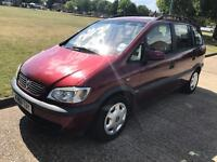 VAUXHALL ZAFIRA 2.0 DIESEL 7 SEATER 2000-1 YEARS MOT-CHEAP CAR £595