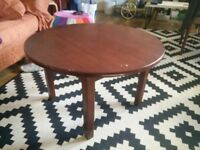 Mahogany Round Coffee Table