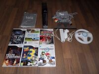 Nintendo Wii Console with games.
