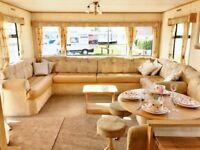 NO SITE FEES TO PAY UNTIL 2019! HUGE FAMILY CARAVAN FOR SALE. 200M FROM BEACH. INDOOR POOL. BAR.SHOP