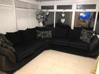 Scs matrix large corner sofa and footstool