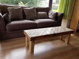 Coffee Table made from pallet wood furniture recycled wood reuse renew Loughview Joinery