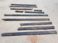 Reclaimed black cast iron guttering