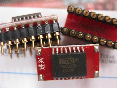 1x Pga2310ua Soic To Dip16 Adapter Volume Control