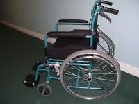 Self Propelled Folding Alloy Lightweight Wheelchair with attendant brakes