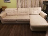 Real Leather Sofa Bed For Sale