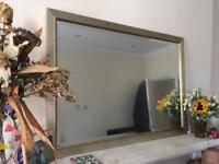 Pale gold detailed mirror