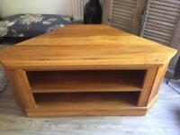 Solid wood tv corner unit.