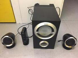 SONY 2.1 Speaker and Sub