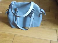 Large pastel blue hand bag in very good condtion