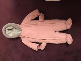 John Lewis Snowsuit 3-6 months Pink