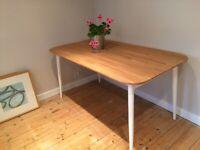 Dining Table - Habitat. Solid oak top.