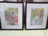 Two Limited Edition David Lloyd Smith Prints of Ballet Dancers at Rest