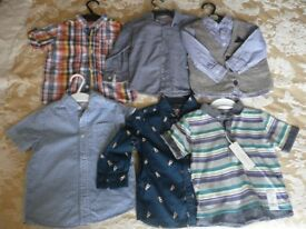 BOYS SHIRTS. 6 in number. size - 1.5 to 2 year old