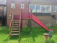 Play climbing frame with slide
