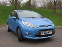 FORD FIESTA 2010 ZETEC 1.4 PETROL BLUE, ONE PREVIOUS LADY OWNER,FSH,FINANCE AVAILABLE £105 PER MONTH